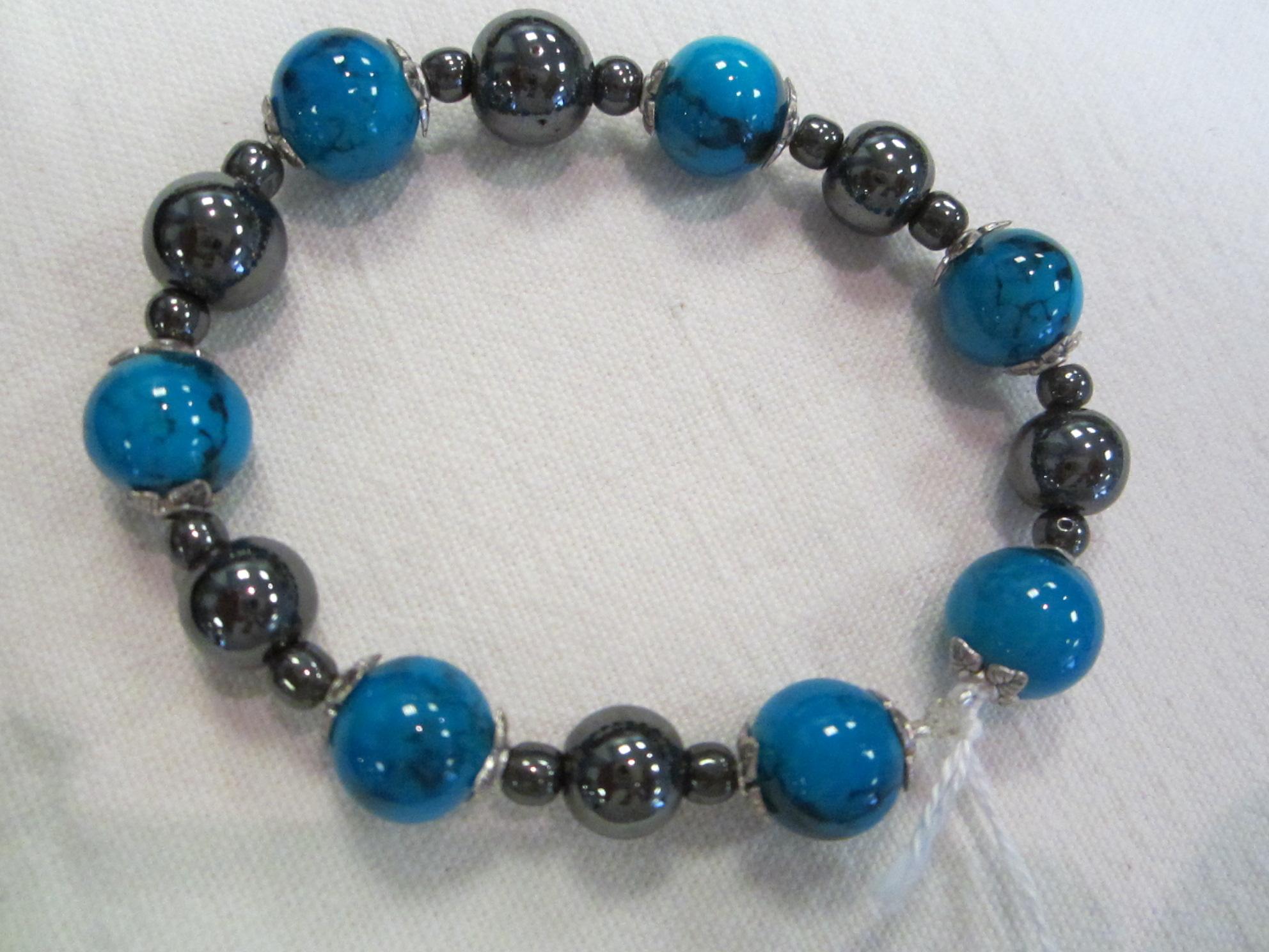 Bracelet en perles d'Hématite