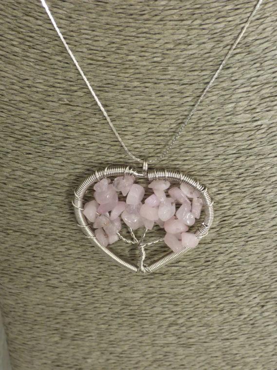 Arbre de vie quartz rose