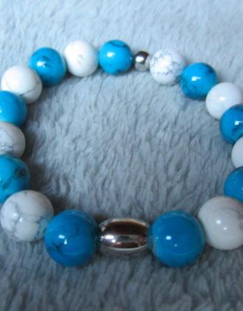 Bracelets d'Howlite