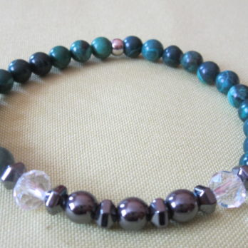 Bracelet Malachite et Hématite